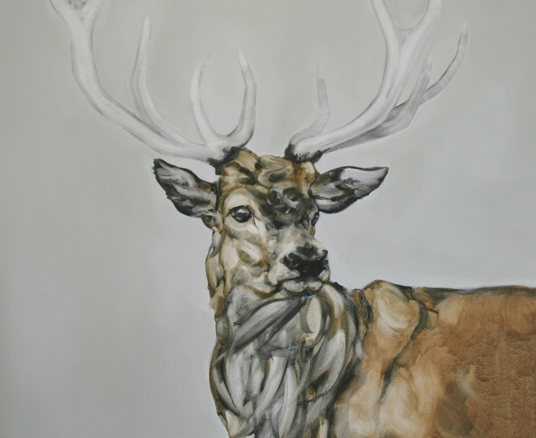 <span class=&#34;artist&#34;><strong>Abigail Reed</strong></span>, <span class=&#34;title&#34;><em>Red Deer With Grey Sky</em></span>