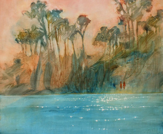 <p>Daniel Ablitt, <em>'By The Shore' (Apricot Sky), </em>2016</p>