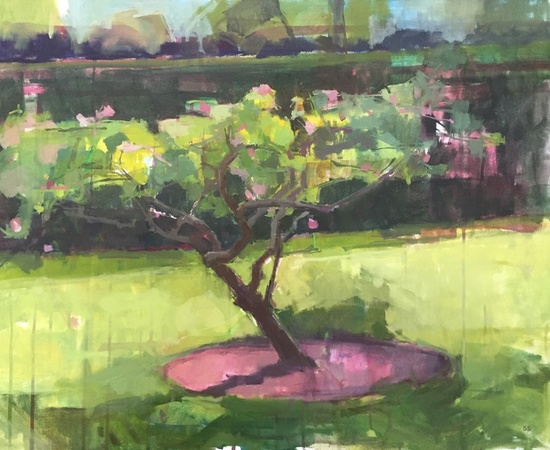 <p>Sarah Spackman, 'Little Apple Tree, Hot Day'</p>