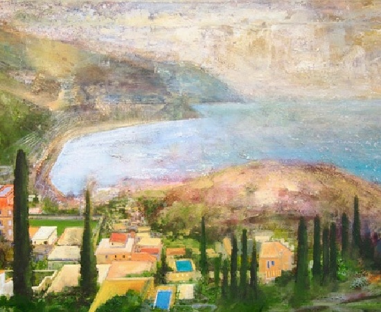 <p>Peter Kettle, 'Sicily, Taormina - Looking Towards Spisone from the Ancient Theatre'</p>