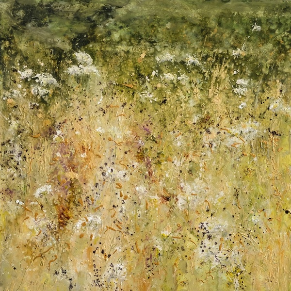 Sally Stafford, 'White Gate', mixed media on canvas, H 100 cm x 100 cm