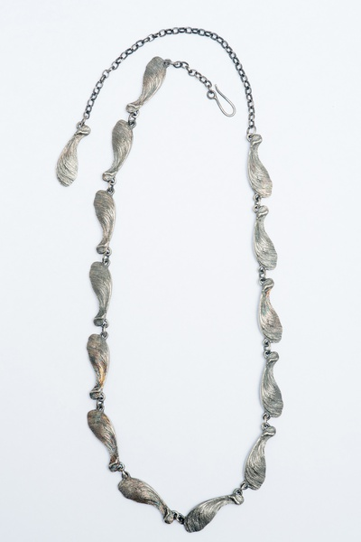 Linked Sycamore Seedhead necklace
