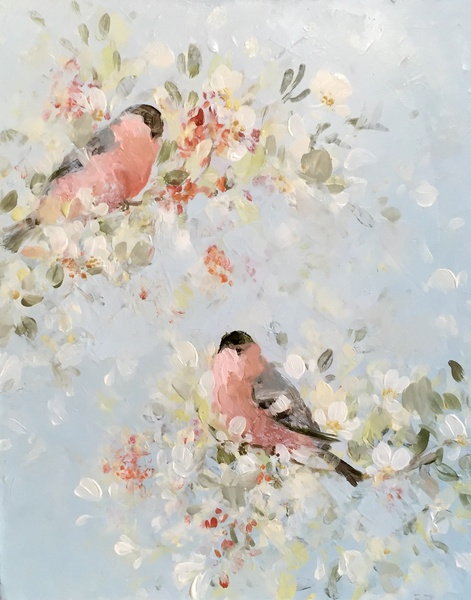 Bullfinches in Blossom , 2016