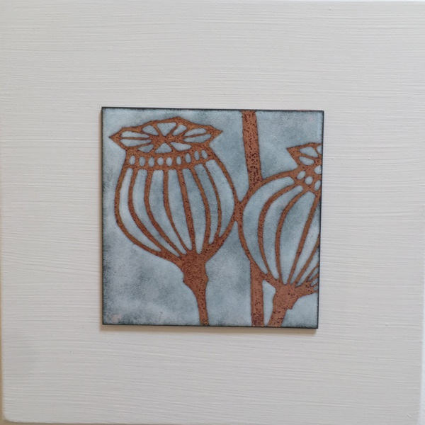 Janine Partington - Poppy Seed Head, small panel