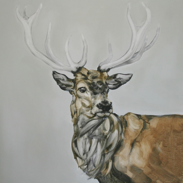 Abigail Reed - Red Deer With Grey Sky