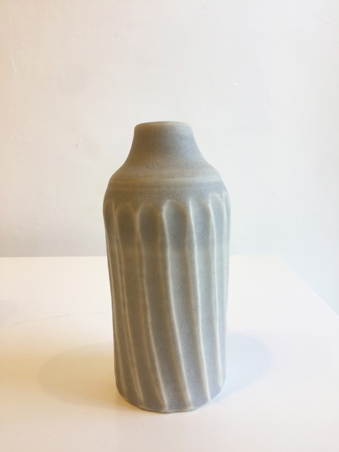 Small Grey Bottle with Ridges, 2018