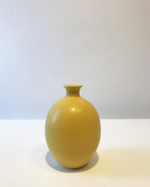 Golden Yellow Oval Vessel, Small