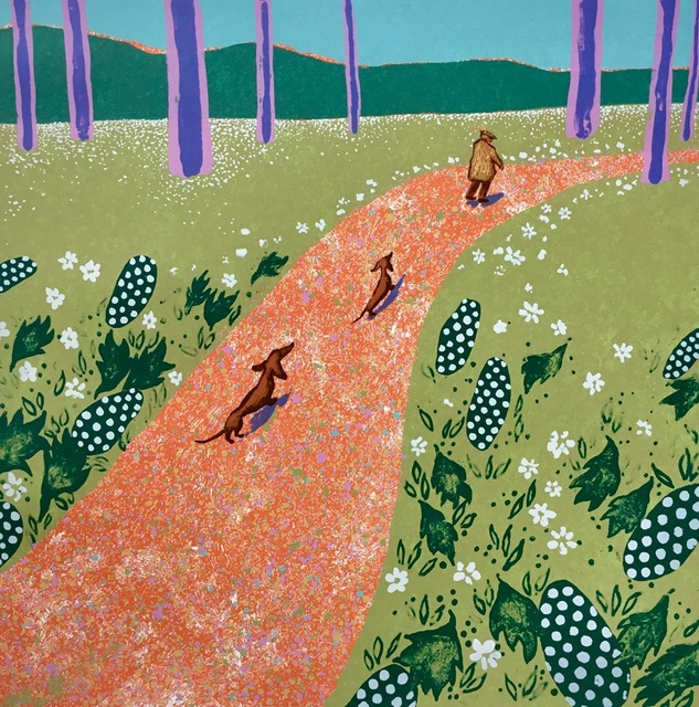Hockney's Dogs, Spring